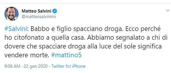 tweet salvini
